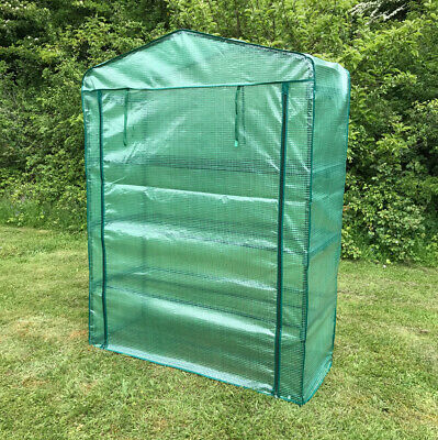 Selections Extra Wide 4 Tier Reinforced Mini Garden Greenhouse Growhouse