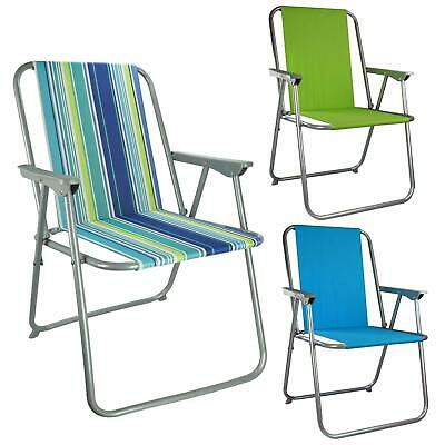 Folding Garden Patio Spring Deck Chair Picnic Camping Beach Fishing Outdoor Seat