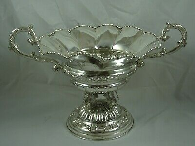 LARGE, SPANISH solid silver ROSE BOWL/ CENTRE PIECE , c1950, 637gm