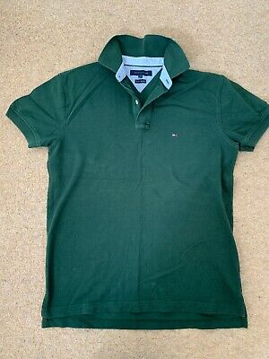 Tommy Hilfiger -  Men's Green Polo Shirt - Size Med