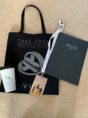 TAKE THAT VIP TOTE BAG 2019 And Contents Greatest Hits Live Tour BRAND NEW