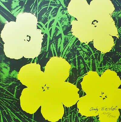 Andy Warhol Poppy Flowers 1986 Hand Numbered 1213/2400 Signed Lithograph