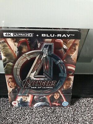 Avengers Age Of Ultron 4K UltraHD Blu-ray Steelbook Zavvi New Sealed