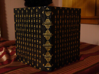 Blank Page Book Black Leather Gold Gilding Hand Bookbinding