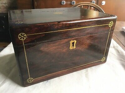 Beautiful Antique Wooden Jewellery Box With Secret Drawer #20051906