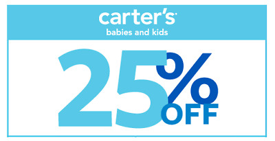 Carter's / Oshkosh 25% Off Coupon code, no $ limits or expiry date