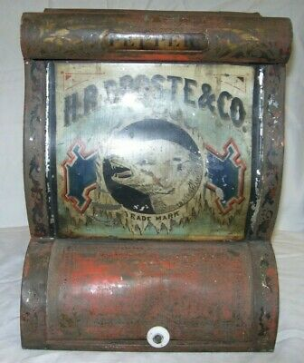 Antique H. R. DROSTE & Co Spice Tin Advertising General Store Bin
