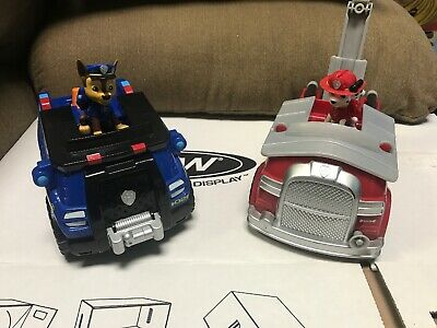 4af4151f3 Paw Patrol Chase And Marshal Deluxe Cruiser Figure Vehicle Both With Sound