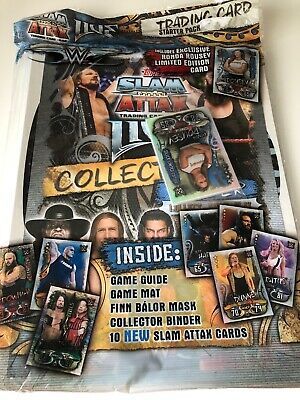 WWE Slam Attax Live Topps Trading Cards Starter Pack Album With Limited Edition