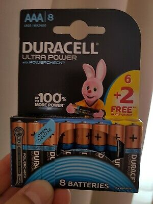 DURACELL Ultra Power Piles type LR03 / AAA Lot de 8
