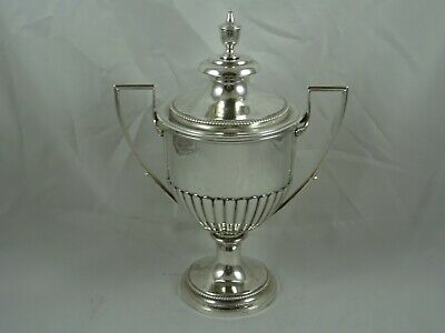 RARE GEORGE III solid silver CUP & COVER, 1813, 964gm