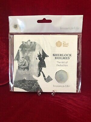 Sherlock Holmes 50p Coin 2019 Royal Mint BU Pack Brand New Sealed