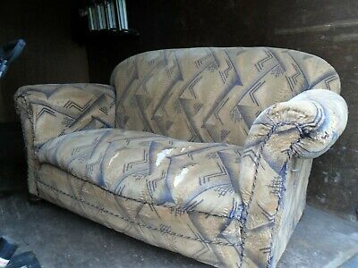 Art Deco Drop Arm Sofa - for Restoration/Re-upholstery