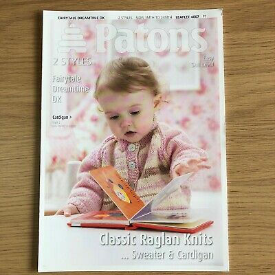 Patons Fairytale Soft DK Childs Knitting Pattern 4007 - Cardigan and Sweater