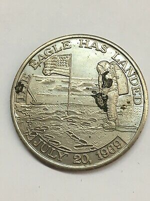 1969 Apollo 11 Mission Medallion The Eagle Has Landed Vintage Coin