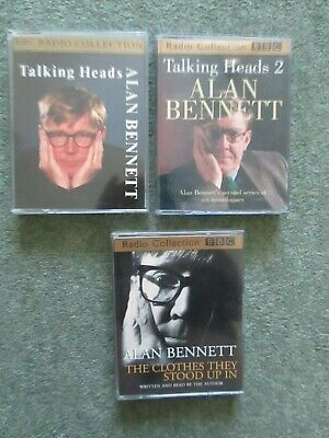 3 Audio Cassettes Alan Bennett The Clothes They Stood Up In + Talking Heads 1+2