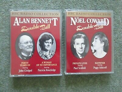 2 Bbc Radio Audio Cassettes - Alan Bennett + Noel Coward Double Bill