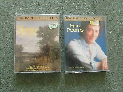 2 Bbc Radio Audio Cassettes - Epic Poems + Poetry Please