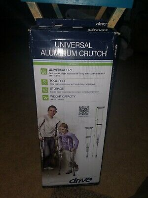 "Adult Child Universal Aluminum Underarm Crutches Fits 4'6 - 6'6"" to 300lbs"