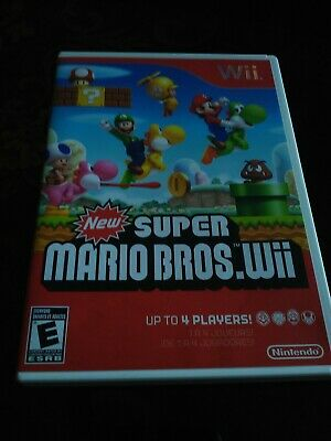 New Super Mario Bros.  (Wii, 2009) with Manual ,Tested , Free shipping
