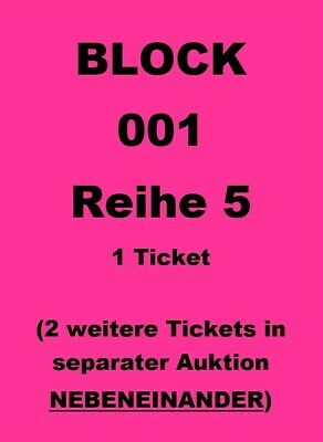 Block 001 Reihe 5  1 Ticket TOP SICHT GNTM Finale Germany's next Topmodel Karten