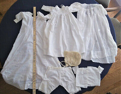 Antique/Vintage Lot of Hand-Made Baby Clothes 6 pieces
