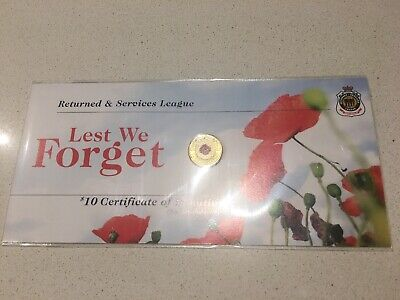 2012 Red Poppy UNC $2 Australia Coin on RSL Card