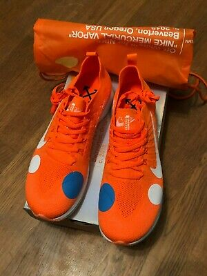 the best attitude 02486 f9608 Nike Off White Zoom Fly Mercurial Size 8UK Orange Foam White Football  Flyknit