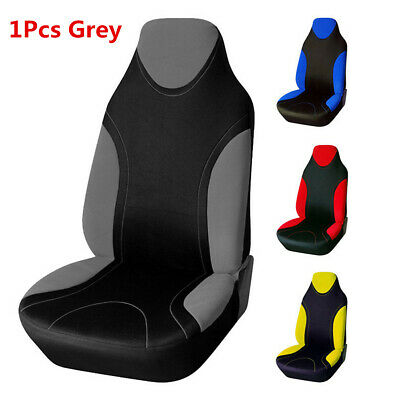 1Pcs Grey Universal Front High Back Bucket  Seat Covers Protector For Car /Van
