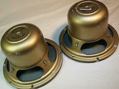 "8"" Coaxial Speaker Vintage Alnico Stereo-Sonic by Gurian USA P316 Pair"