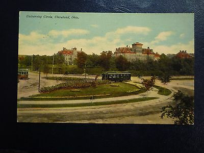 c1910 Cleveland OH Ohio, Trolley at University Circle