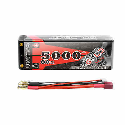 GOLDBAT 2S 5000mAh 80C 7.4V LiPo Battery Hardcase Deans Plug for RC Car Truck