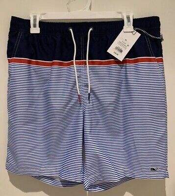 cbc507029d286 NWT Vineyard Vines Target Mens Swim Trunks Board Shorts Striped Size Medium