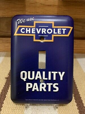 Chevrolet Light Switch Plate Cover Gas Oil Garage Auto Car Sign Parts Chevy