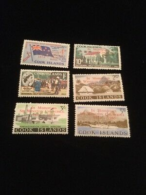 Cook Islands Scott #164-169 Mint Never Hinged Stamps!