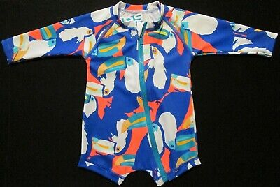 BONDS Baby Boys Bathers Swimmers Swim Suit Long Sleeve Protection Size 000 00 0