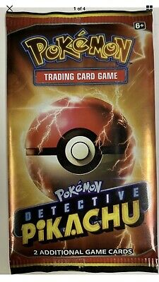 6 Pack Lot LIMITED Pokemon Detective Pikachu Movie 2 Card Pack  -PROMO 2019 NEW