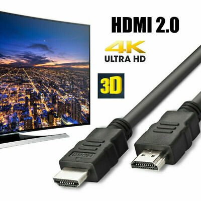 HDMI Cable High Speed v2.0 HD 4K 3D ARC For PS3 PS4 XBOX SKY TV 1M Metre Long