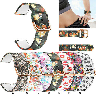 Printed Wrist Band Strap Replacement For Samsung Galaxy Watch 42mm/Active 40mm-*