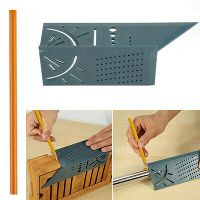 Woodworking 3D Mitre Angle Measuring Square New Measure Tool With Gauge & Ruler