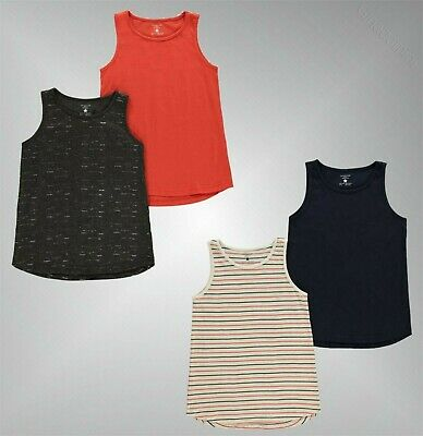 2 Piece Girls Crafted Round Neck Super Soft Jersey Vest Top Sizes from 7 to 13