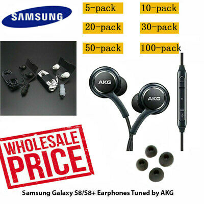 Lot OEM Samsung S9 S8+ Note 8 AKG Earphones Headphones Headset Ear Buds EO-IG955
