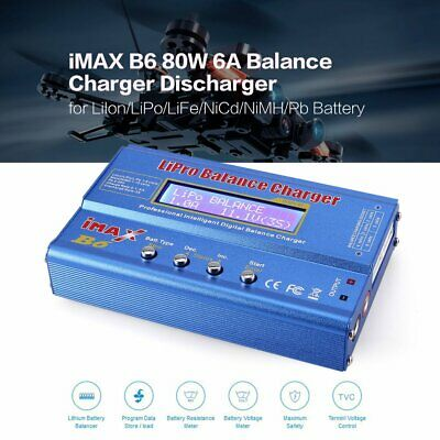iMAX B6 80W 6A Lipo NiMh Battery Balance Charger with 15V/6A AC/DC Adap WJ