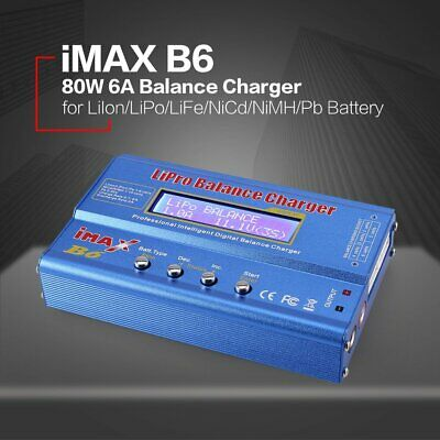 iMAX B6 6A 80W Lipo NiMh Battery Balance Charger with 15V/6A AC/DC Adap WJ