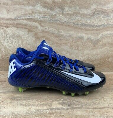 new arrival 94e2c 10ccc NIKE VAPOR ULTIMATE Carbon TD Blue Flyknit Molded Football Cleats ...