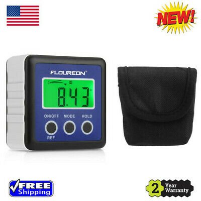 LCD Angle Cube Digital Protractor Gauge Electronic Angle Finder Inclinometer USA