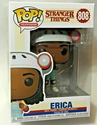 FUNKO Pop STRANGER THINGS Season 3 ERICA #808 4in Vinyl Figure Netflix Bent Card