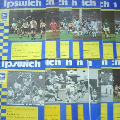 LEEDS UNITED HOME programmes 1974/75 and 1975/76 - £1 00