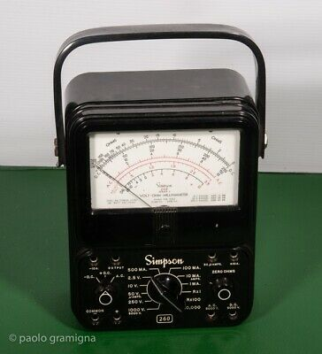 Simpson 260 Series 3 Volt Ohm Millimps meter like new and well working