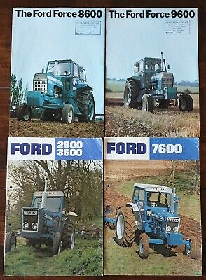 Ford Tractor Brochures Rare 2600/3600/7600/8600/9600 from the mid 70s
